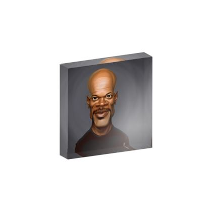 Samuel L Jackson Celebrity Caricature Acrylic Photo Blocks