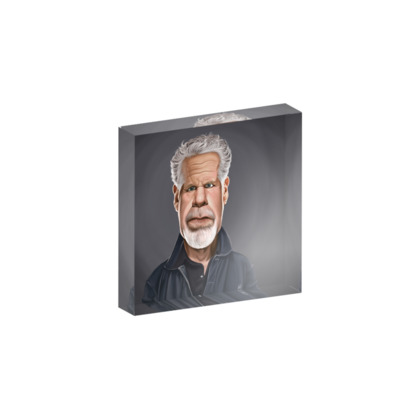 Ron Perlman Celebrity Caricature Acrylic Photo Blocks