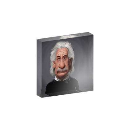 Albert Einstein Celebrity Caricature Acrylic Photo Blocks