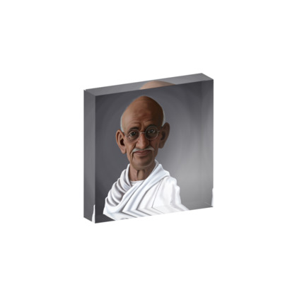 Mahatma Gandhi Celebrity Caricature Acrylic Photo Blocks