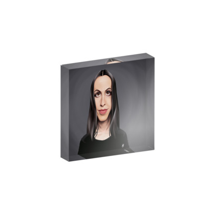 Alanis Morissette Celebrity Caricature Acrylic Photo Blocks