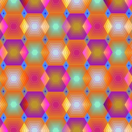 Geometrical Shapes Collection Double Deckchair