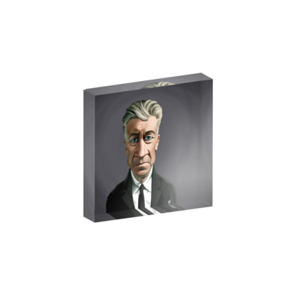 David Lynch Celebrity Caricature Acrylic Photo Blocks