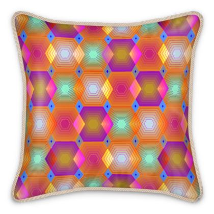 Geometrical Shapes Collection Silk Cushions