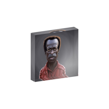 Miles Davis Celebrity Caricature Acrylic Photo Blocks
