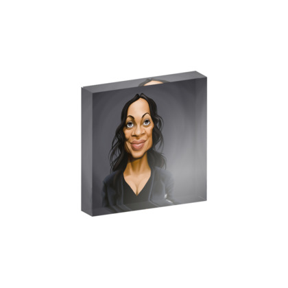 Rosario Dawson Celebrity Caricature Acrylic Photo Blocks