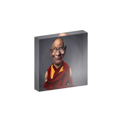 Dalai Lama Celebrity Caricature Acrylic Photo Blocks