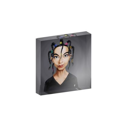 Björk Celebrity Caricature Acrylic Photo Blocks