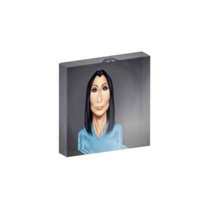 Cher Celebrity Caricature Acrylic Photo Blocks