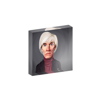 Andy Warhol Celebrity Caricature Acrylic Photo Blocks