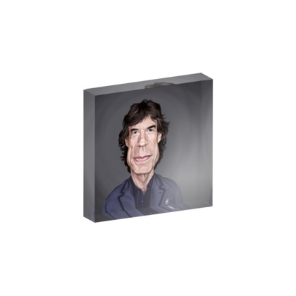 Mick Jagger Celebrity Caricature Acrylic Photo Blocks