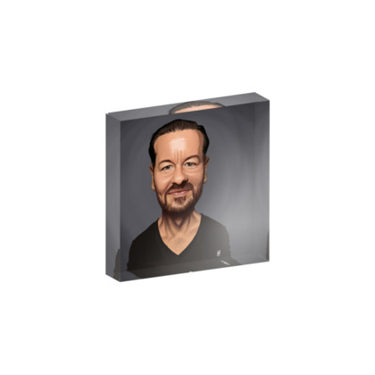 Ricky Gervais Celebrity Caricature Acrylic Photo Blocks