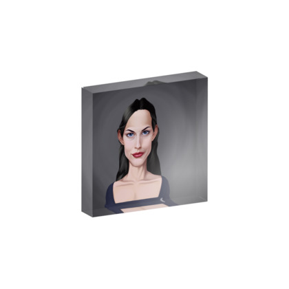 Liv Tyler Celebrity Caricature Acrylic Photo Blocks