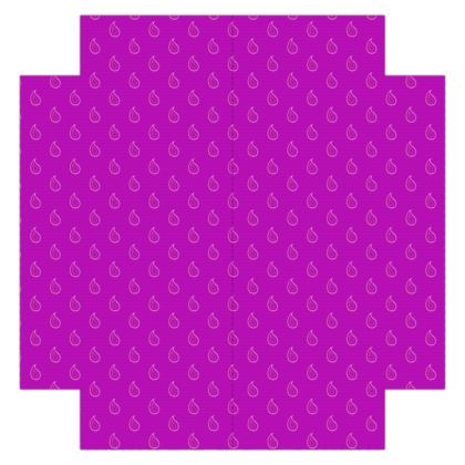 Paisley Drops on purple Fitted Sheets USA