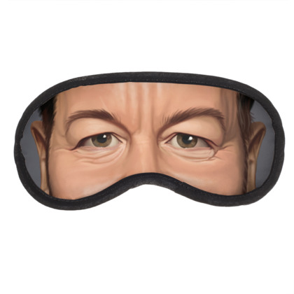 Ricky Gervais Celebrity Caricature Eye Mask