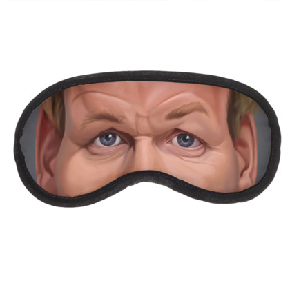 Gordon Ramsey Celebrity Caricature Eye Mask