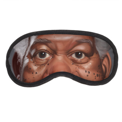 Morgan Freeman Celebrity Caricature Eye Mask