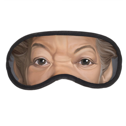 Maya Angelou Celebrity Caricature Eye Mask