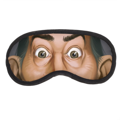 Salvador Dali Celebrity Caricature Eye Mask