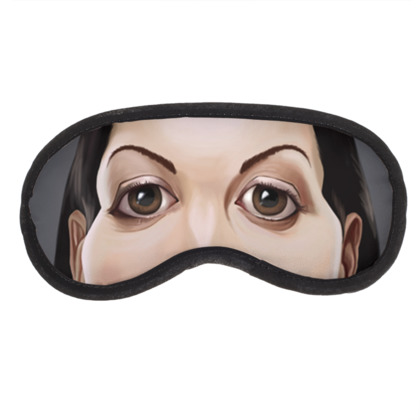 Monica Bellucci Celebrity Caricature Eye Mask