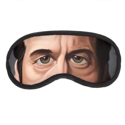 David Duchovny Celebrity Caricature Eye Mask