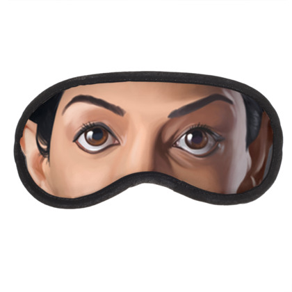 Archie Panjabi Celebrity Caricature Eye Mask