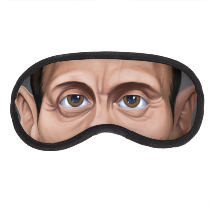 Mads Mikkelsen Celebrity Caricature Eye Mask