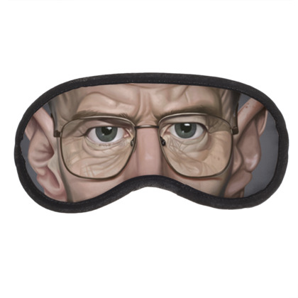 Bryan Cranston Celebrity Caricature Eye Mask