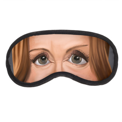 Julianne Moore Celebrity Caricature Eye Mask