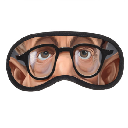 Woody Allen Celebrity Caricature Eye Mask