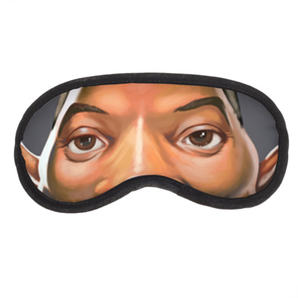 Will Smith Celebrity Caricature Eye Mask