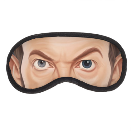 David Bowie Celebrity Caricature Eye Mask