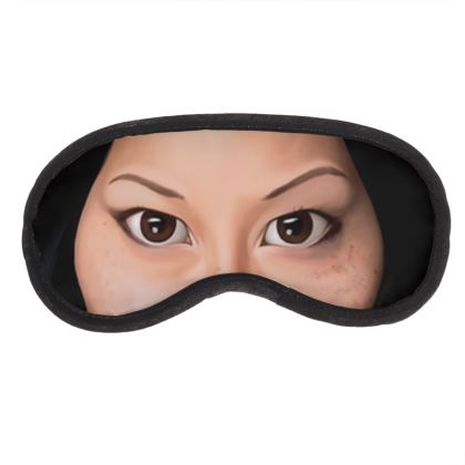 Lucy Liu Celebrity Caricature Eye Mask
