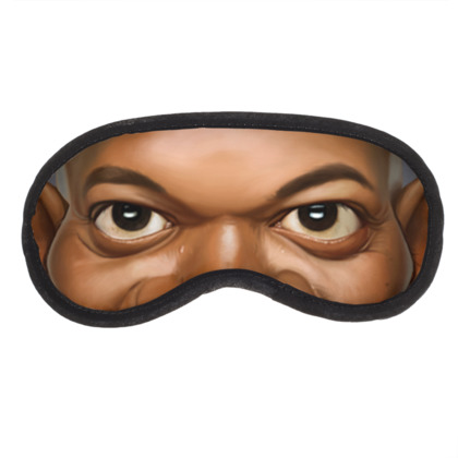 Samuel L Jackson Celebrity Caricature Eye Mask