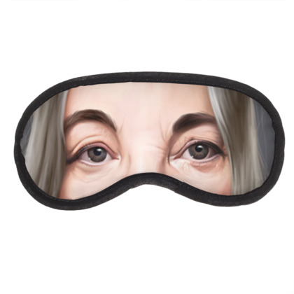 Patti Smith Celebrity Caricature Eye Mask