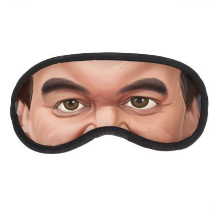 Quentin Tarantino Celebrity Caricature Eye Mask