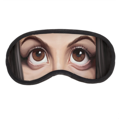 Alanis Morissette Celebrity Caricature Eye Mask