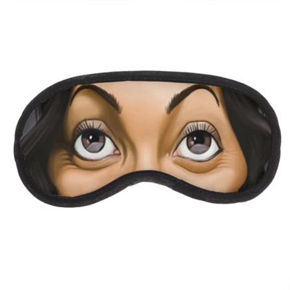 Rosario Dawson Celebrity Caricature Eye Mask