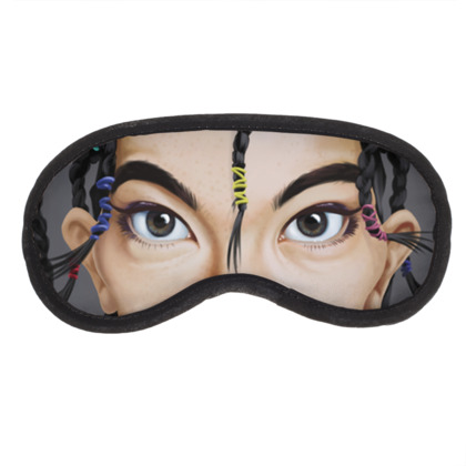Björk Celebrity Caricature Eye Mask