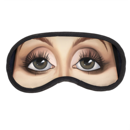Cher Celebrity Caricature Eye Mask