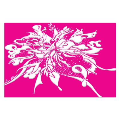 Sarong - White ink pink