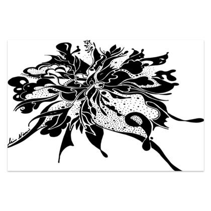 Sarong - Black ink White