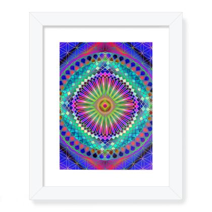 Framed Art Prints Sun Mandala