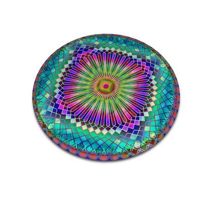 Leather Coasters Sun Mandala