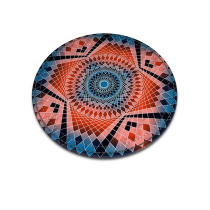 Leather Coasters Red Mandala