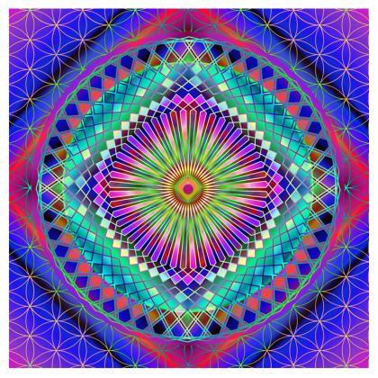 Cut And Sew All Over Print T Shirt Mandala Sun