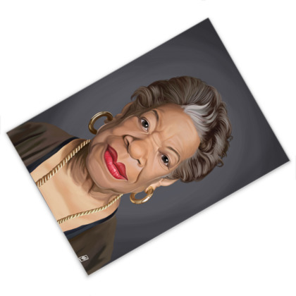 Maya Angelou Celebrity Caricature Postcard