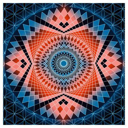 Cube Red Mandala