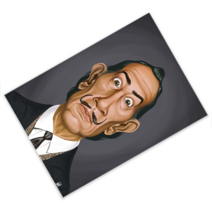 Salvador Dali Celebrity Caricature Postcard