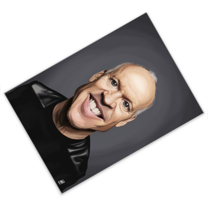 Michael Keaton Celebrity Caricature Postcard